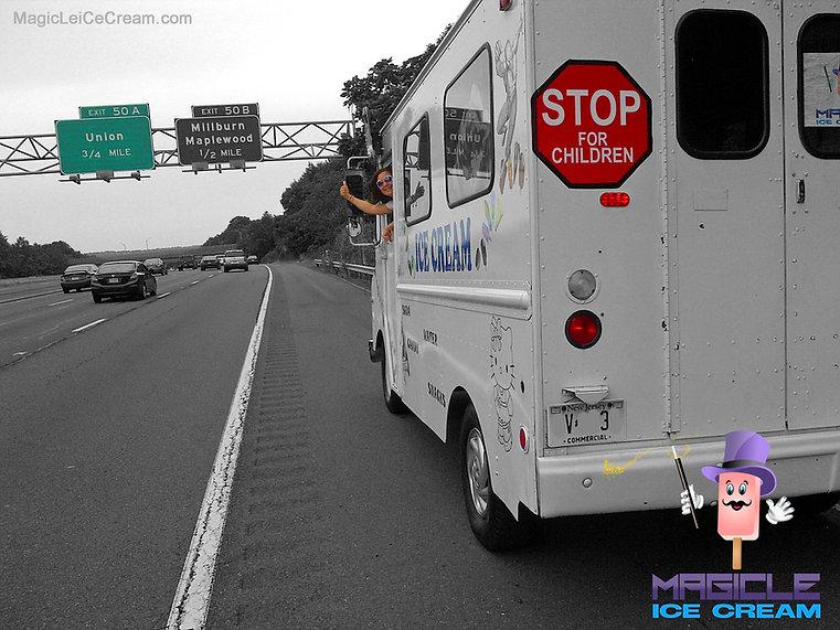 Magicle Ice Cream traveling. Ice cream truck. NJ ice cream truck rental.