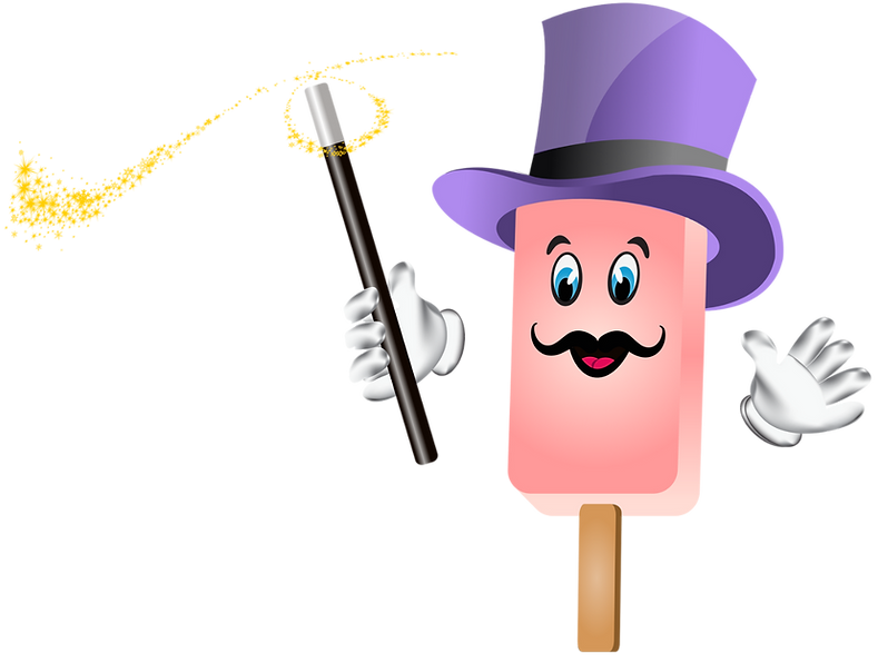 Magicle Ice Cream mascot