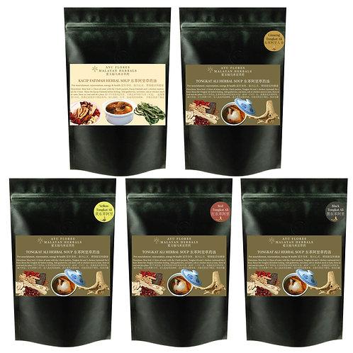 Herbal Soup Promotion - 5 Packs Tongkat Ali + Kacip Fatimah Herbal Soup