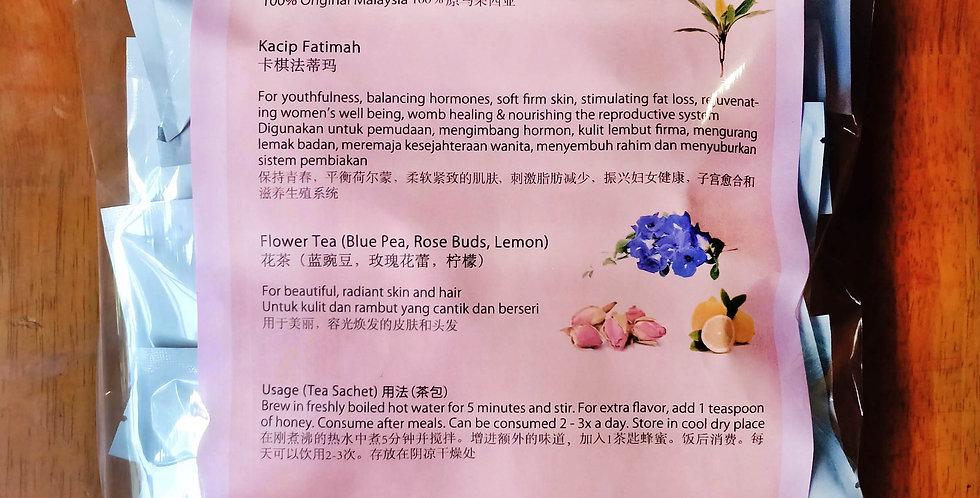 Kacip Fatimah Flower Tea Sachets (60 Sachets)