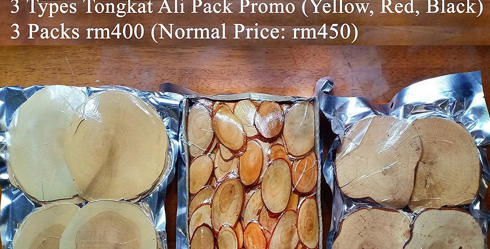 3 Types Tongkat Ali Pack (3 Packs Promo) (Per Pack 500gms)
