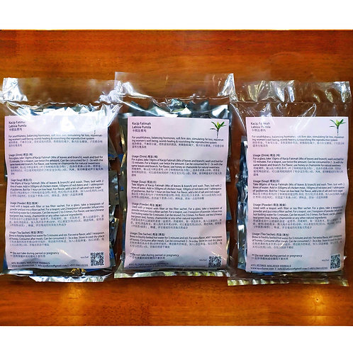 3 Packs Kacip Fatimah Tea Sachets (3 Packs Promo) (60 Sachets Each