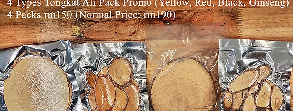 4 Types Tongkat Ali Pack (4 Small Packs Promo) (Per Pack 100gms)