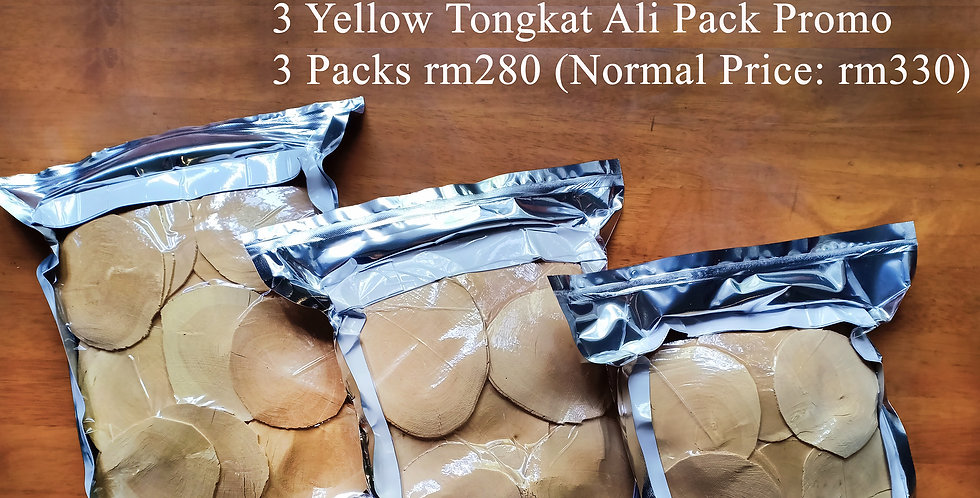 3 Packs Yellow Tongkat Ali (Extra Premium Grade) (Per Pack 500gms)