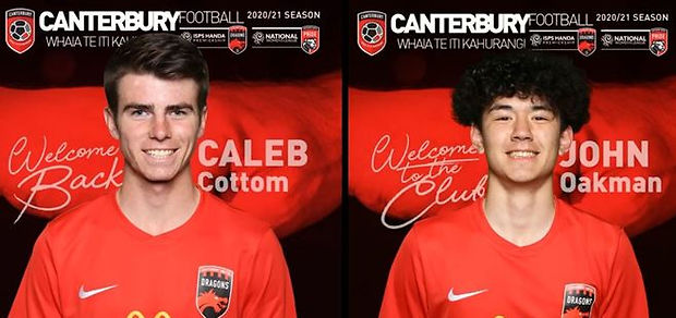 Youngsters John Oakman and Caleb Cottom have been selected for the 2020/21 Canterbury United squad.