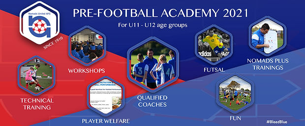 Nomads are pleased to announce the launch of our U11-U12 Pre-Academy.