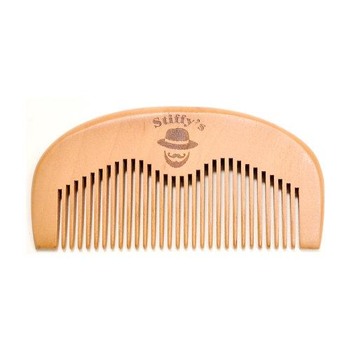 Peach Wood Beard & Mustache Combs