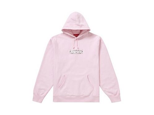Supreme - Bandana Box Logo Hooded Sweatshirt Pink
