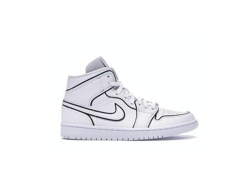 Jordan 1 Mid Iridescent Reflective White