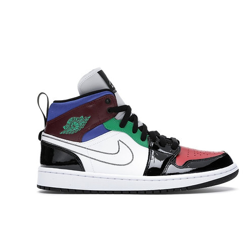 Jordan 1 Mid SE Black White Multi-Color (W)