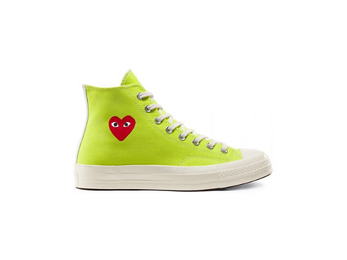 Converse Chuck Taylor All-Star 70s Hi Comme des Garcons Play - Fluo