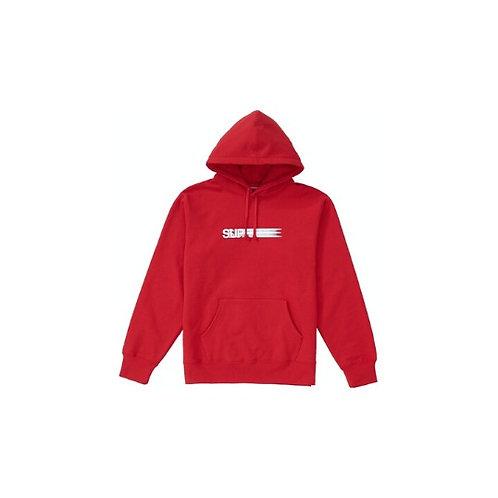 Supreme Motion Logo Hooded Sweatshirt Red