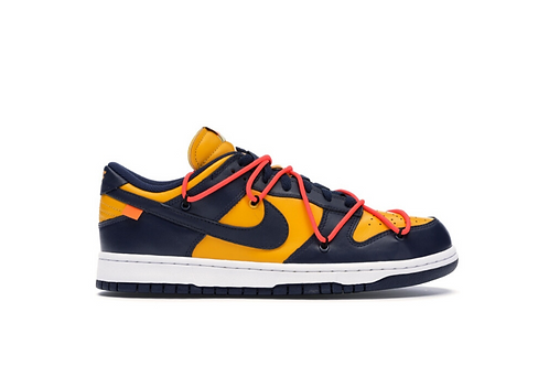 Nike - Dunk Low Off-White University Gold Midnight Navy