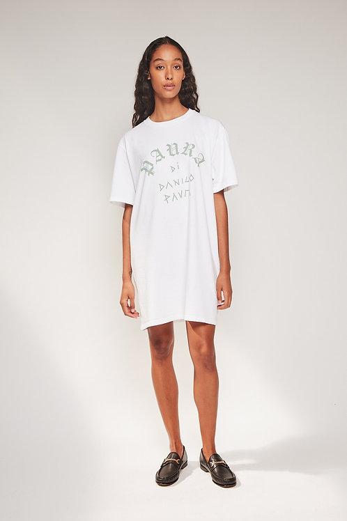 PAURA - BELLA OVERSIZED TEE DRESS WHITE