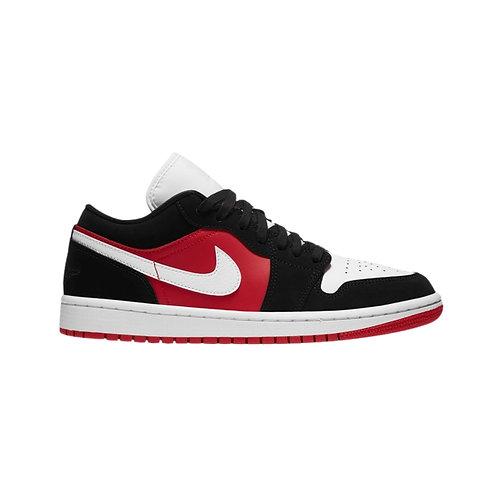 Jordan 1 Low Black White Gym Red (W)