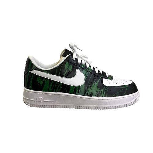 Nike AIr Force 1 Green Flames