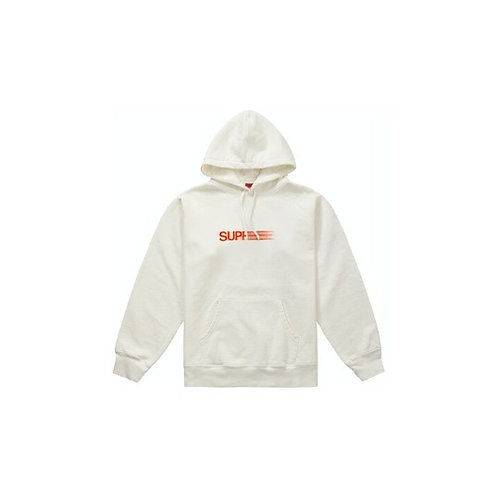 Supreme Motion Logo Hooded Sweatshirt White