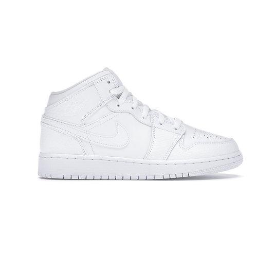 Jordan 1 Mid Triple White (W) Custom