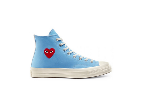 Converse Chuck Taylor All-Star 70s Hi Comme des Garcons Play - Bright Blue