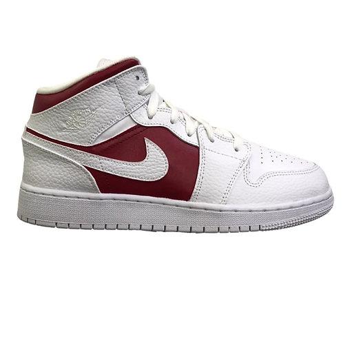 Nike Air Jordan 1 Mid Red & White (GS)
