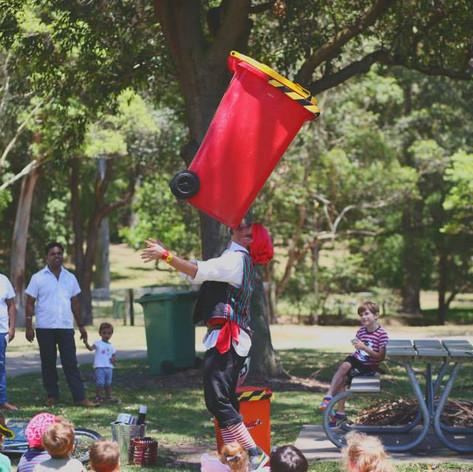 Wheelie bin balance pirate style