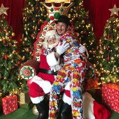 Santa photo's hunter valley gardens lights festival