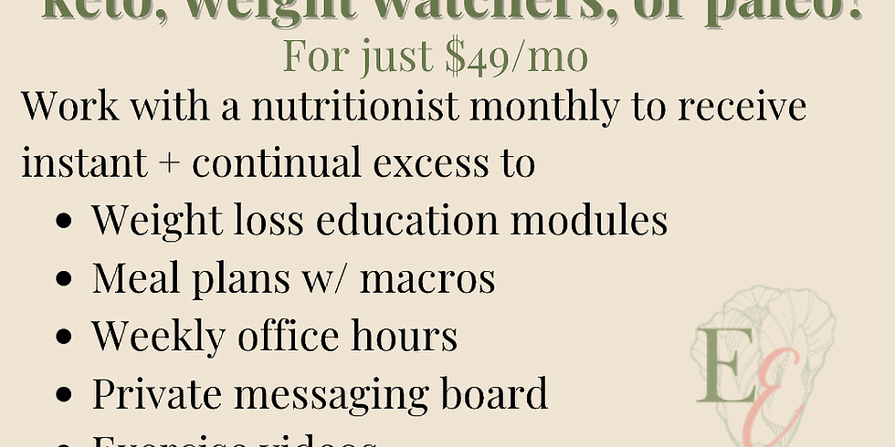 Monthly Weight Loss Program