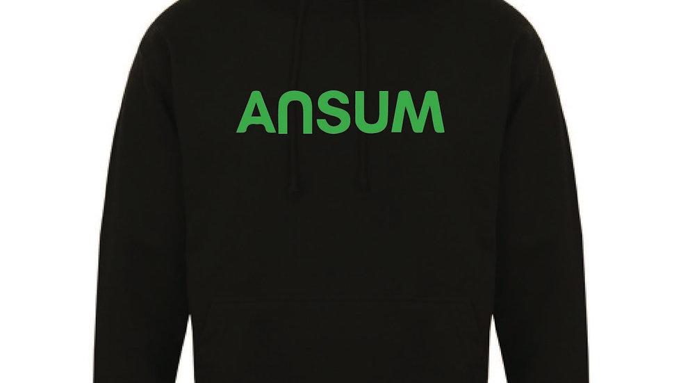 Ansum Hoody Neon Green Logo