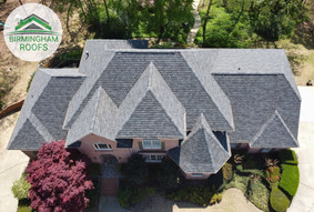 Replacement using GAFs Antique Slate Designer Shingles