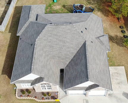 Ariel photo of a completed replacement in Calera