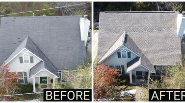 Before and After Roof Replacement - Moody, Alabama