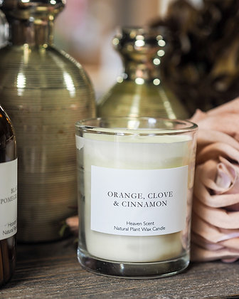Orange, Clove & Cinnamon Luxury Scent Candle