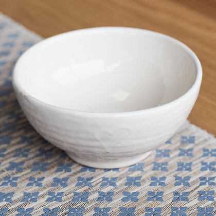 Cream Cereal Bowl With Love Heart Detail