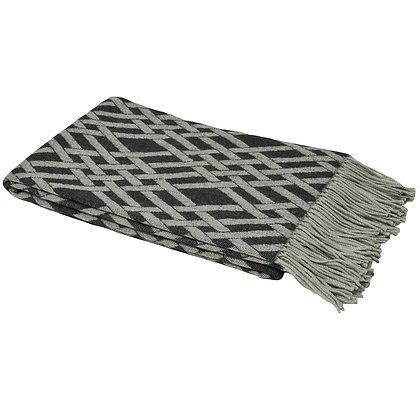 Charcoal + Grey Luxe Geometric Throw