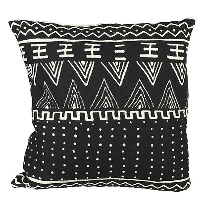 Black + White Aztec Print Cushion 45 x 45cm