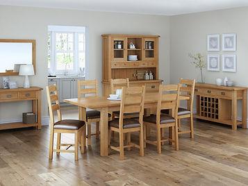 oak dining room furniture, traditional furniture Leeds, sideboards Leeds