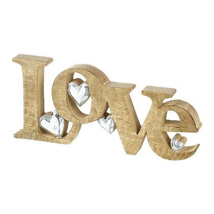 Wooden Love Quote Sculpture
