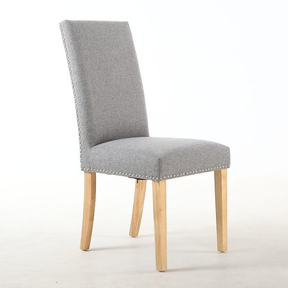 Silver Grey Stud Dining Chair