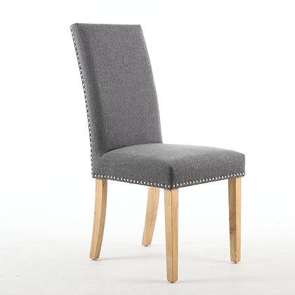 Steel Grey Stud Dining Chair