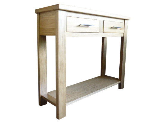 Thick Top Two Drawer Console
