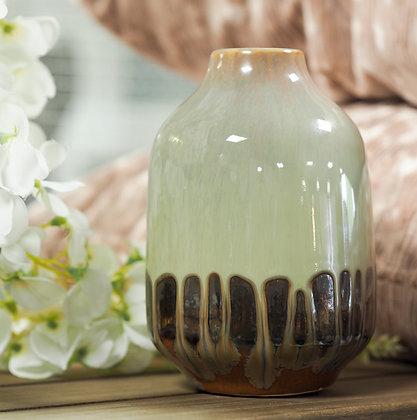 Small Kyoto Watercolour Effect Bronze Vase