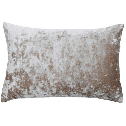 Oyster Luxe Velvet Cushion