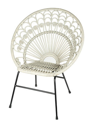 Grey Rattan Chair