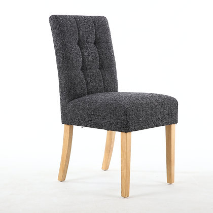 Fleck Charcoal Waffle Back Chair