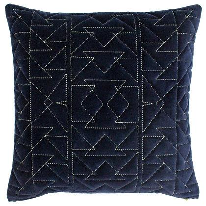 Navy & Gold Aztec Print Cushion