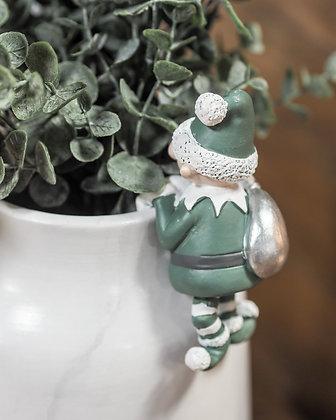 Naughty Elf Decorative Pot Hanger