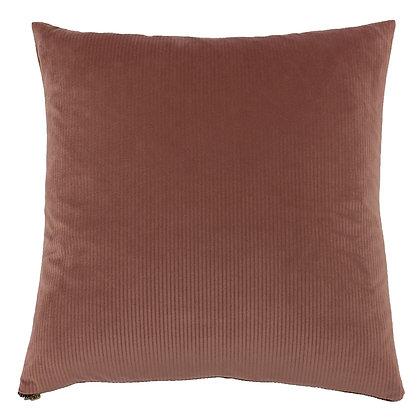 Rose Ribbed Effect Velvet Touch Cushion
