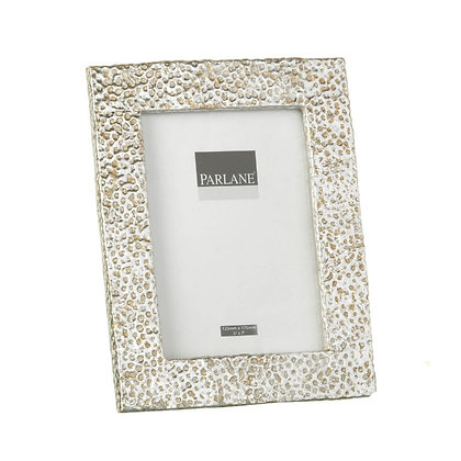 Silver + Gold Hammered Effect Photo Frame