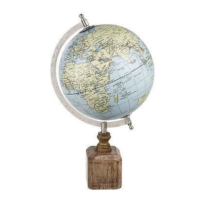 Decorative Globe On Wooden Base