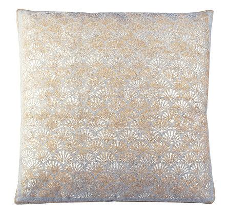 Grey & Gold Oriental Cushion